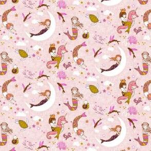 Mermaid Lullaby MICRO (rose linen)