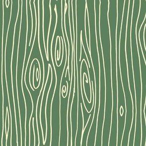 Wonky Woodgrain - Moss
