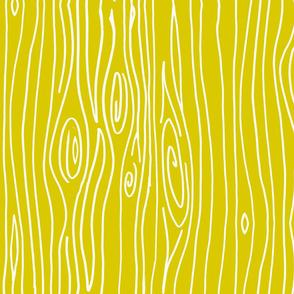 Wonky Woodgrain - Goldenrod