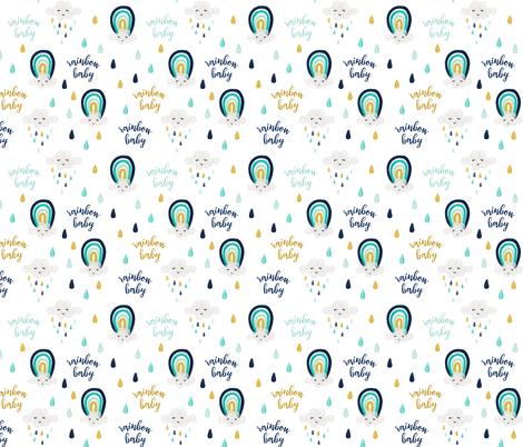rainbow baby // medium fabric by ivieclothco on Spoonflower - custom fabric