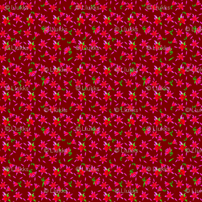 Stargazers Red Upholstery Fabric