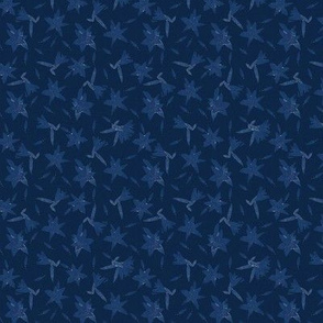 Stargazers Blue on Navy Blue Upholstery Fabric