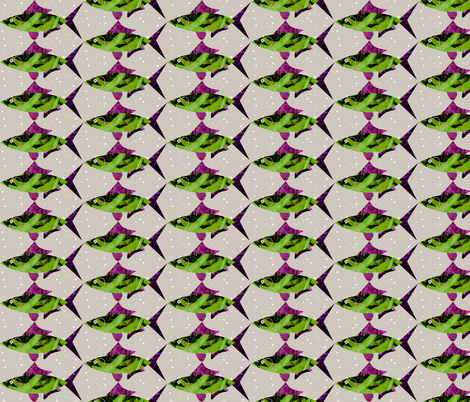 Fish Pink Neutral Background fabric by barbarapritchard on Spoonflower - custom fabric