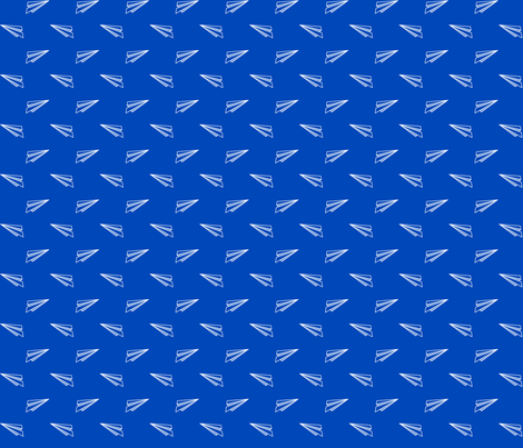 Origami Planes - Blue fabric by mariakentstudio on Spoonflower - custom fabric