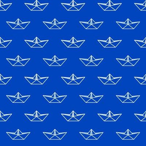 Origami Boat - Blue