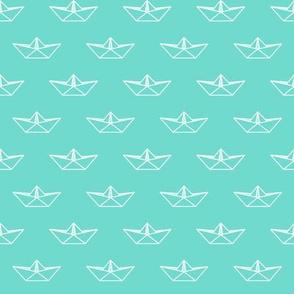 Origami Boat - Mint Green