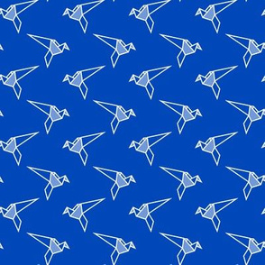 Origami Birds - Blue
