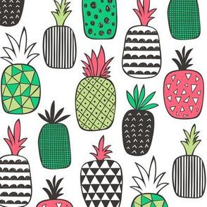 Pineapple Geometric Christmas Colours
