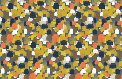 Fall Woods - M+M Navy Blue by Friztin fabric by friztin on Spoonflower - custom fabric