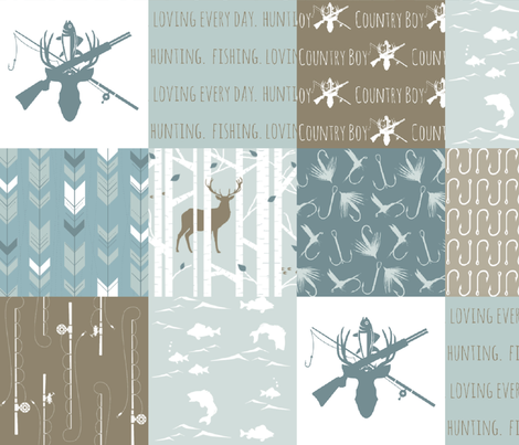 Country Boy 2 (Cheater Quilt) fabric by buckwoodsdesignco on Spoonflower - custom fabric