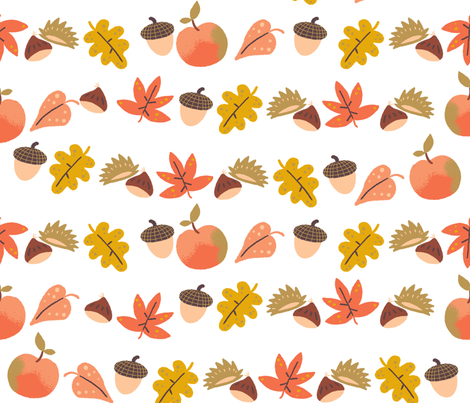 autumn garland fabric by gnoppoletta on Spoonflower - custom fabric