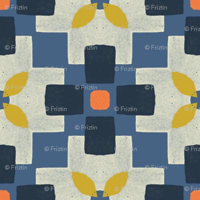 Retro Square Floral by Friztin