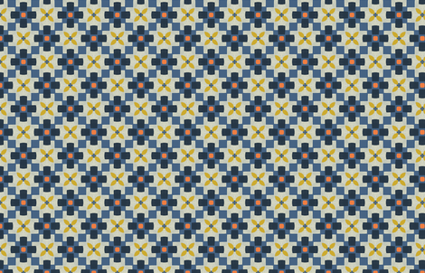 Retro Square Floral by Friztin fabric by friztin on Spoonflower - custom fabric