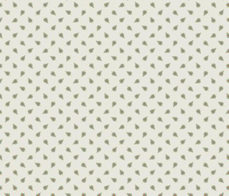 Vintage Ornate Flower - ditsy leaf fabric by katybobsyouraunty on Spoonflower - custom fabric