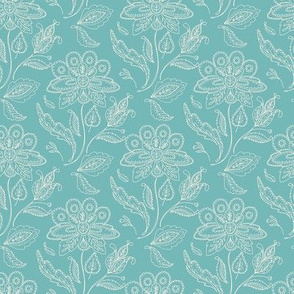 Vintage Ornate flower - damask