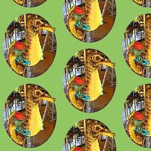 Green Carousel Seahorse