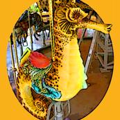 Orange Carousel Seahorse