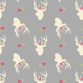 Deer_And_Flowers_Repeat_Grey