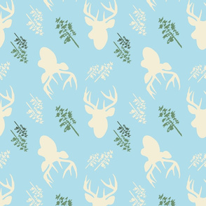 Deer_And_Tree_Repeat_Blue