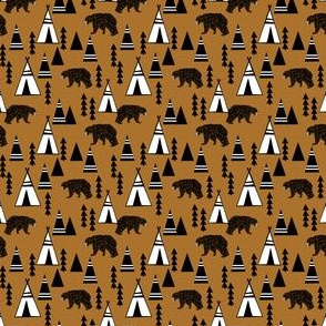 tipi forest // southwest bear triangle nursery caramel color