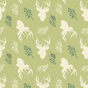 Deer_And_Tree_Repeat_Green