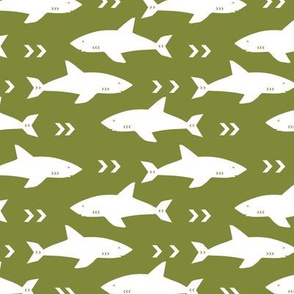 sharks fabric black and white shark design