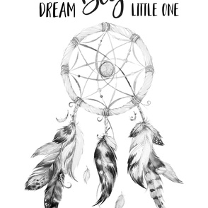 "56""x72"" Dream Big Little One / DreamCatcher Black & White"