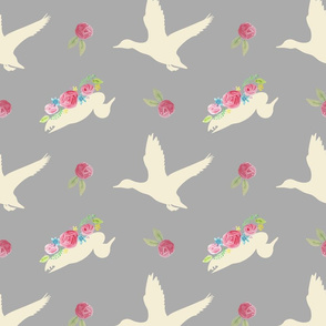 Duck_and_Flowers_Repeat_Grey