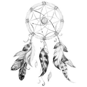 "8"" Black and White Dreamcatcher"