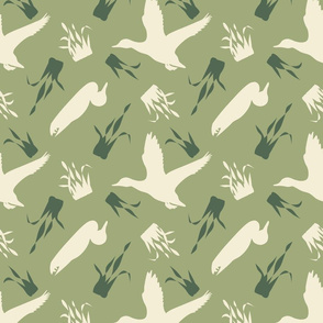 Duck_and_Grass_Repeat_Green