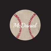 baseball vintage smooth black Large467 - PERSONALIZED McDaniel