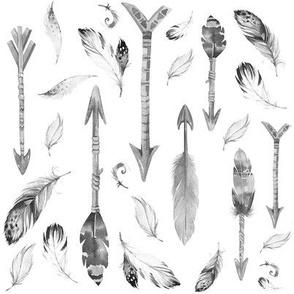 """8"""" ARROWS & FEATHERS"""