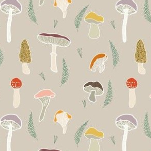 Autumn Mushroom Secondary Pattern