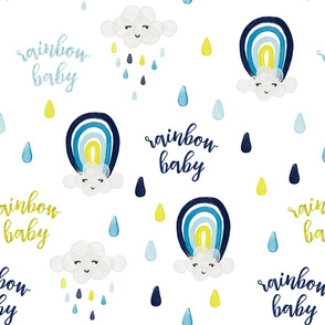 rainbow baby yellow + blue
