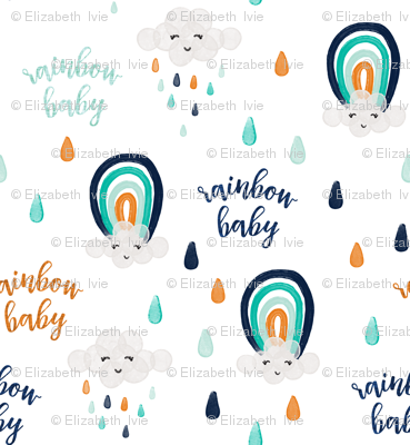rainbow baby orange // small