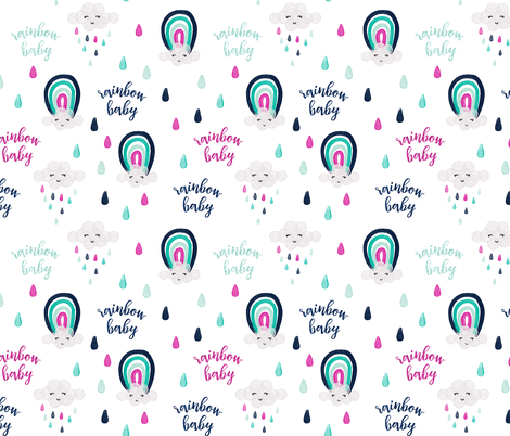 rainbow baby pink fabric by ivieclothco on Spoonflower - custom fabric