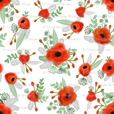 poppy fabric micro mini print