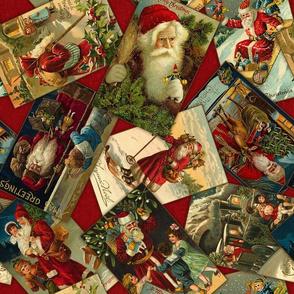 Vintage Santas Scatter-Red