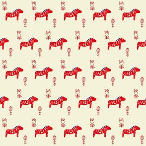 Dala horse ivory