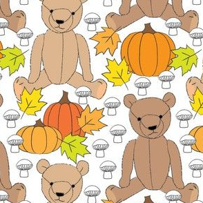 fall teddy bears