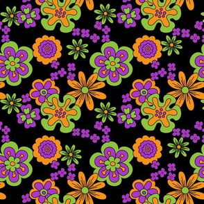 Vintage Halloween Flower Power multi