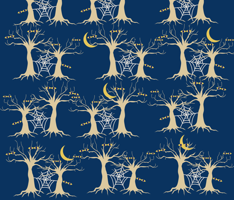 S-P-O-O-K-Y Orchard fabric by twilfley on Spoonflower - custom fabric