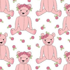 pink teddy bears and roses