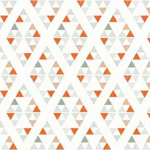 Triangles  - Alternate Orange Colorway