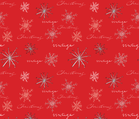 Vintage_Christmas_Red_Repeat_6x fabric by rochelle_rae_design on Spoonflower - custom fabric