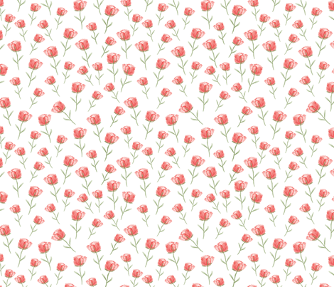 Sweet-Rose-pink fabric by y_me_it's_me_shop on Spoonflower - custom fabric