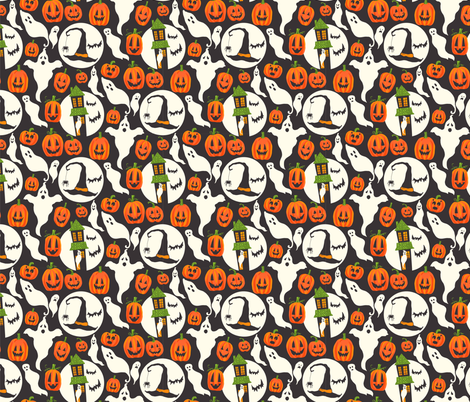 Vintage Halloween Fun fabric by onelittleprintshop on Spoonflower - custom fabric