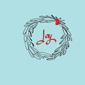 Joy Wreath - Aqua