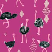 Ostrich southwest tribe diamonds