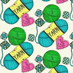 Made with Love! Yarn Stash  knit/crochet